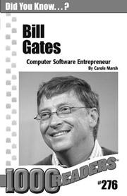 Bill Gates: Computer Software Entrepreneur Consumable Pack 30