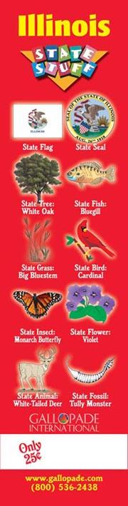 Illinois Symbols Bookmark