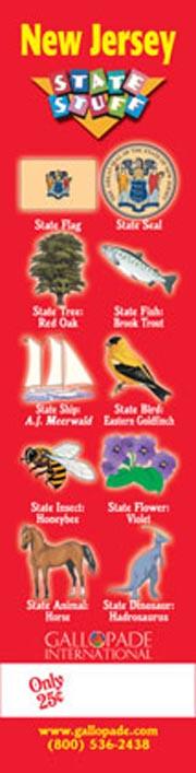 New Jersey Symbols Bookmark
