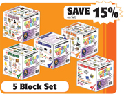 Writer's Block Set — 1 each of all 5 blocks
