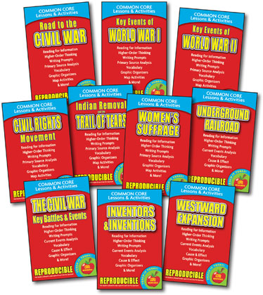 Common Core Lessons & Activities - Growth of a Nation - Set of 10