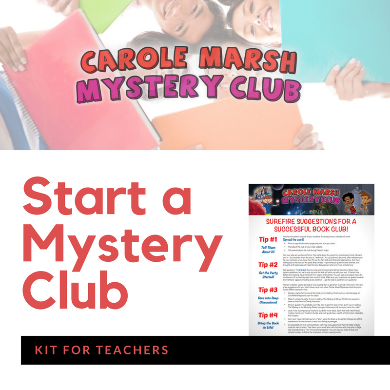 carole marsh mysteries book club kit