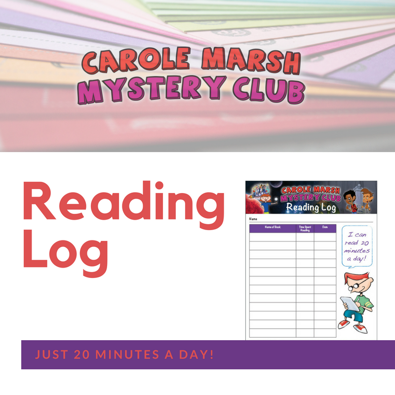 carole marsh mysteries reading log