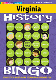 Virginia History Bingo Game!: