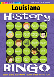 Louisiana History Bingo Game!