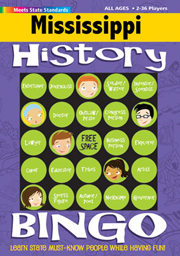Mississippi History Bingo Game!
