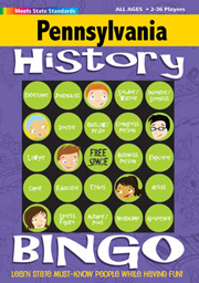 Pennsylvania History Bingo Game!