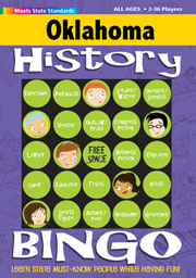 Oklahoma History Bingo Game!