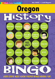 Oregon History Bingo Game