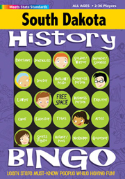 South Dakota History Bingo Game
