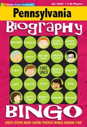 Pennsylvania Biography Bingo Game