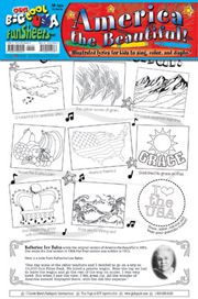 America the Beautiful FunSheet - Pack of 30