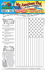My American Flag FunSheet - Pack of 30