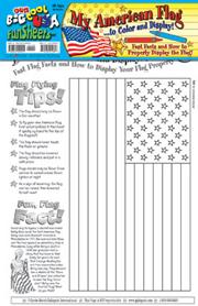 My American Flag FunSheet - Pack of 30