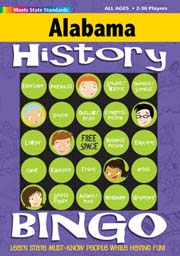 Alabama History Bingo Game