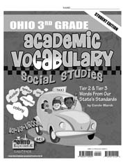 Ohio 3rd Grade Academic Vocabulary – Social Studies – Student Book