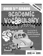 Ohio 5th Grade Academic Vocabulary – Social Studies – Student Book