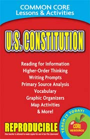 U.S. Constitution – Common Core Lessons & Activities