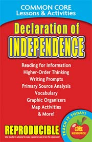 Declaration of Independence – Common Core Lessons & Activities