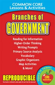 Branches of Government – Common Core Lessons & Activities