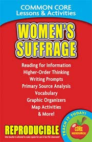 Women's Suffrage and the 19th Amendment – Common Core Lessons & Activities