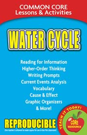 Water Cycle – Common Core Lessons & Activities