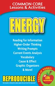 Energy – Common Core Lessons & Activities