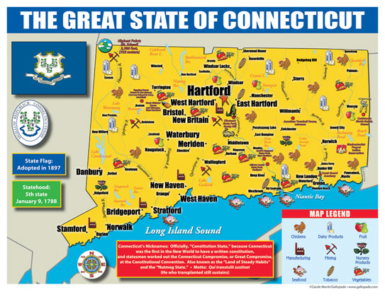 Connecticut State Map For Students