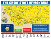 Montana State Map for Students - Pack of 30
