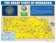 Nebraska State Map for Students - Pack of 30