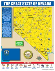 Nevada State Map for Students - Pack of 30
