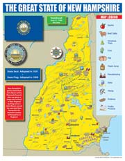 New Hampshire State Map for Students - Pack of 30