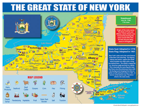 New York State Map For Students