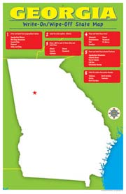 Georgia Write-On/Wipe-Off Desk Mat - State Map