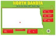 North Dakota Write-On/Wipe-Off Desk Mat - State Map