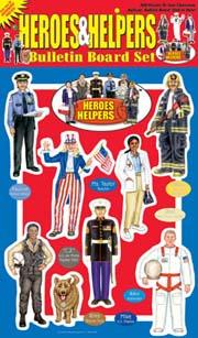 Heroes & Helpers Bulletin Board Set