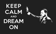 Martin Luther King, Jr. Keep Calm and Dream On Sticker