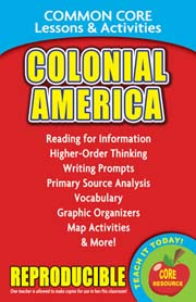 Colonial America - Common Core Lessons & Activities