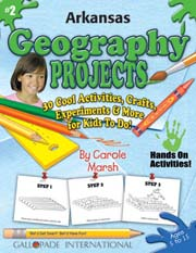 Arkansas Geography Projects - 30 Cool Activities, Crafts, Experiments & More for Kids to Do to Learn About Your State!