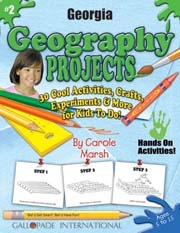 Georgia Geography Projects - 30 Cool Activities, Crafts, Experiments & More for Kids to Do to Learn About Your State!