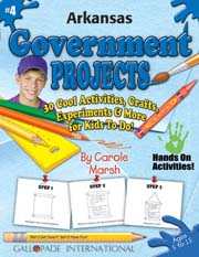 Arkansas Government Projects - 30 Cool Activities, Crafts, Experiments & More for Kids to Do to Learn About Your State!