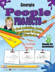 Georgia People Projects - 30 Cool Activities, Crafts, Experiments & More for Kids to Do to Learn About Your State!