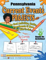 Pennsylvania Current Events Projects - 30 Cool Activities, Crafts, Experiments & More for Kids to Do to Learn About Your State!