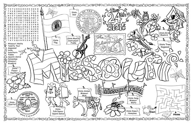 Missouri Symbols Facts Funsheet Pack Of 30