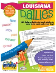 Louisiana Dailies: 180 Daily Activities for Kids