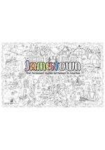 Jamestown Giant Coloring Poster Retail (includes crayons!)