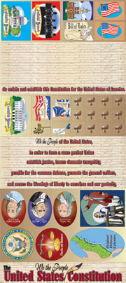 We the People - The U.S. Constitution Bulletin Boards with Borders