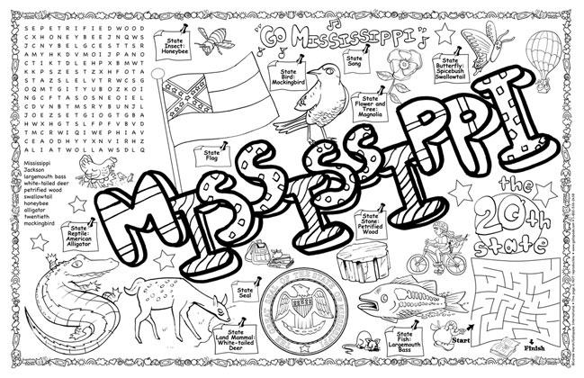 Mississippi Symbols Amp Facts Funsheet Pack Of 30