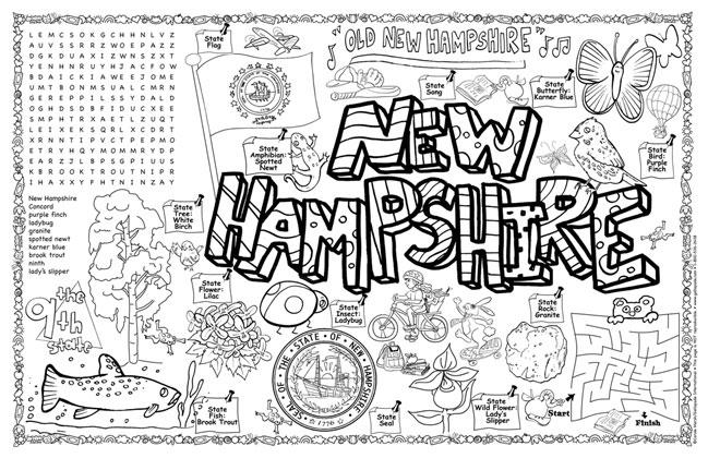 New Hampshire Symbols Facts Funsheet Pack Of 30