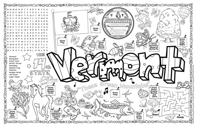 Vermont Symbols & Facts FunSheet – Pack of 30